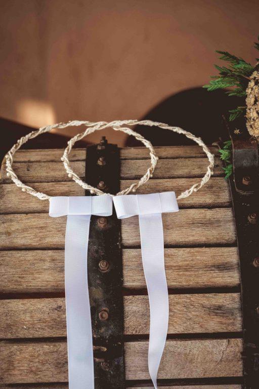 στέφανα γάμου σχοινί - δαντέλα