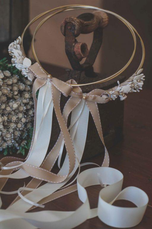 στέφανα γάμου λευκόχρυσα